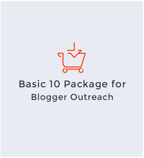 Basic 10 Package for Blogger Outreach