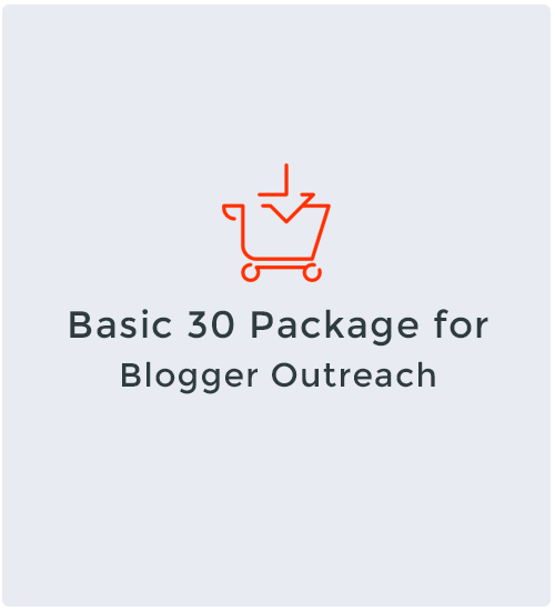 Basic 30 Package for Blogger Outreach