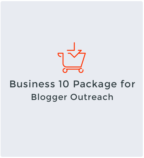 Business 10 Package for Blogger Outreach