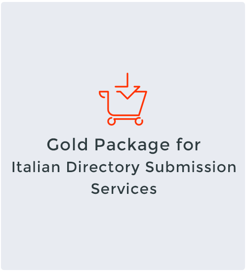 Gold Package for Italian Directory Submission Services