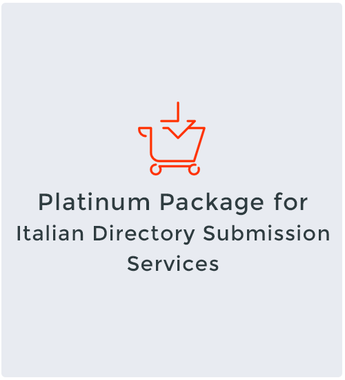 Platinum Package for Italian Directory Submission Services