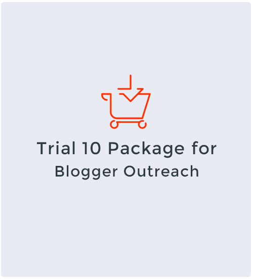 Trial 10 Package for Blogger Outreach
