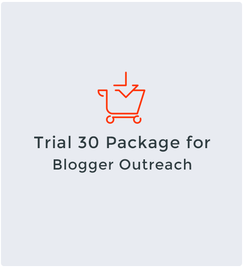 Trial 30 Package for Blogger Outreach